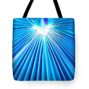 Palm Frond In Blue Tote Bag