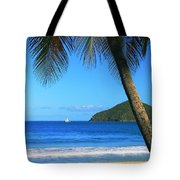 Palm Shaded Island Beach  Tote Bag