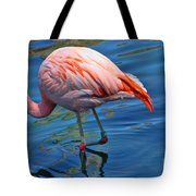 Palm Springs Flamingo Tote Bag