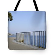 Palm Tree On The Lakefront Tote Bag