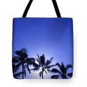 Palm Tree Silhouettes Tote Bag