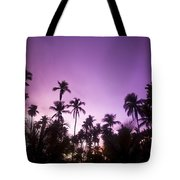 Palm Trees At Dusk, Malaysia, Southeast Tote Bag