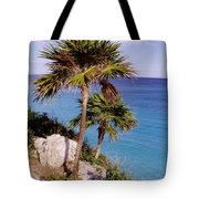 Palm Trees At Tulum Tote Bag