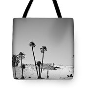 Palm Trees In The Sahara Desert Tote Bag