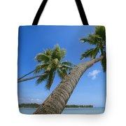 Palm Trees On A Tropical Beach, Fiji Tote Bag