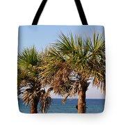 Palm Trees Tote Bag by Sandy Keeton