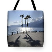 Palm Trees With Shadows Tote Bag