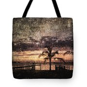 Palms And Docks Tote Bag