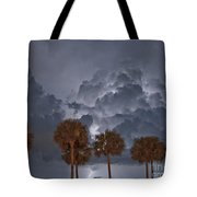 Palms And Lightning 7 Tote Bag