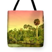 Palms In Twilight Tote Bag