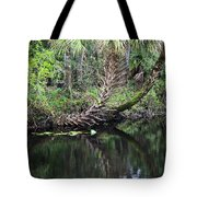 Palms On The River Tote Bag