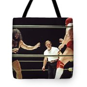 Pampero Firpo Vs Texas Red In Old School Wrestling From The Cow Palace  Tote Bag