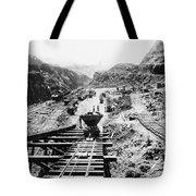 Panama Canal - Construction At The Culebra Cut - C 1910 Tote Bag