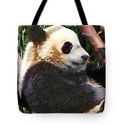 Panda In Tree Tote Bag