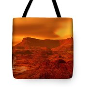 Panorama Of A Landscape On Venus At 700 Tote Bag