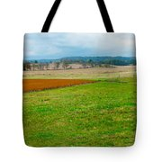Panorama Valley Farm Tote Bag