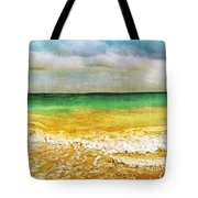 Panoramic Seaside At Tulum Tote Bag by Tammy Wetzel
