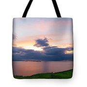 Panoramic View From Dunluce Castle Tote Bag