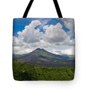 Panoramic View Of A Volcano Mountain  Tote Bag