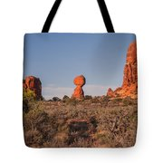 Panoramic View Of Balance Rock                                                       Tote Bag
