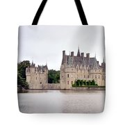 Panoramic View Of Chateau De La Bretesche Tote Bag