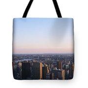Panoramic View Of Manhattan Tote Bag