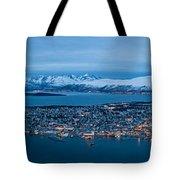 Panoramic View Of Tromso In Norway  Tote Bag