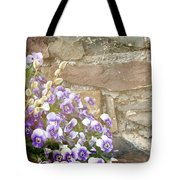 Pansies And Pussywillows Tote Bag