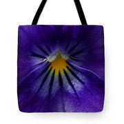 Pansy Abstract Tote Bag