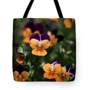Pansy Garden Tote Bag