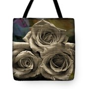 Paper Roses Art Tote Bag
