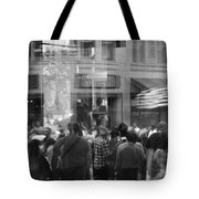 Parade Crowd Reflected Tote Bag