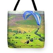 Paragliding Off Mam Tor 01 Tote Bag