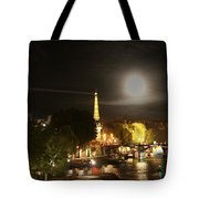 Paris At Night Tote Bag