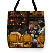 Paris At Night In The Cafe Tote Bag