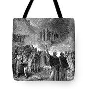 Paris: Burning Of Heretics Tote Bag by Granger