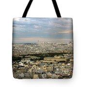 Paris City View Tote Bag