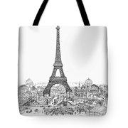 Paris Exhibition, 1889 Tote Bag