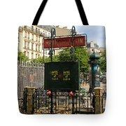 Paris Metro 3 Tote Bag