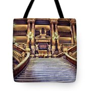 Paris Opera House Vii  Grand Stairway Tote Bag