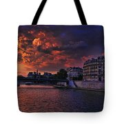 Paris Sundown Tote Bag