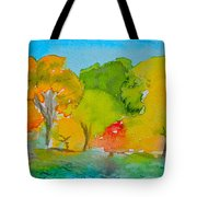 Park Impression Tote Bag