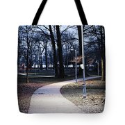 Park Path At Dusk Tote Bag
