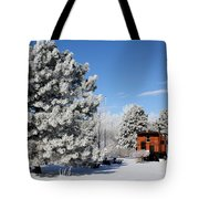 Parked Caboose Tote Bag