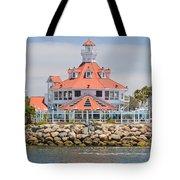 Parker's Lighthouse Shoreline Village Tote Bag