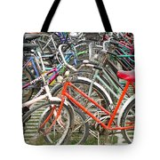 Parking Bicycles In Mako Tote Bag
