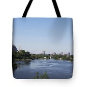 Parliament And Ottawa River  Tote Bag