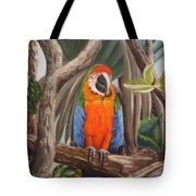 Parrot At New Orleans Zoo Tote Bag