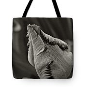 Parrot Tulip In Black And White Tote Bag