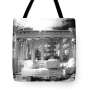 Parthenon Infrared Tote Bag